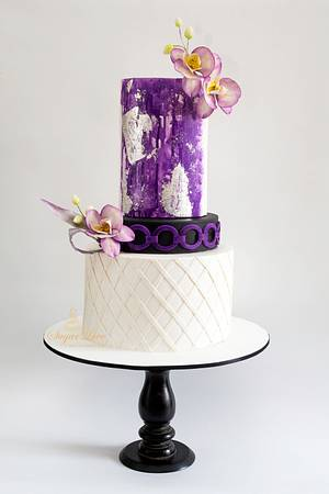 Violet splash-caker buddies collaboration  - Cake by SugarLove at Bubzy's Bakehouse