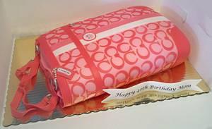 Coach Heritage Stripe Signature Book Bag Purse Tote - Cake by Kimberly Cerimele