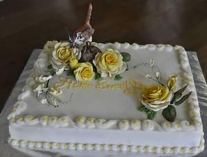 Home Sweet Home - Cake by Sandra Smiley