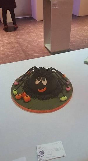 Halloween Spider - Cake by Sandybabe