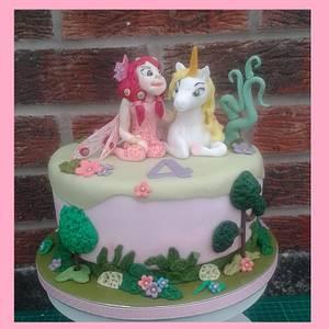 Mia and the Unicorns - Cake by Karen's Kakery