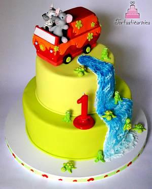 Bus animal cake :) - Cake by Nataša