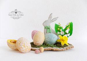 3D Egg Cookies - CPC Easter Collaboration 2016 - Cake by Sweet Side of Cakes by Khamphet