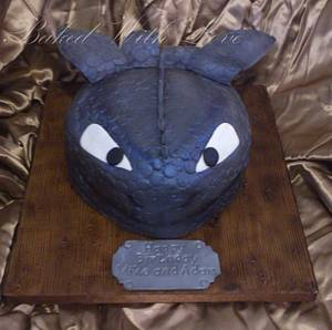 Toothless How to train your Dragon - Cake by bakedwithloveonline