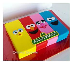 Sesame Street Sheet Themed Cake - Cake by DeliciousDeliveries