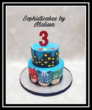 PJ Masks themed Birthday  - Cake by Sophisticakes by Malissa