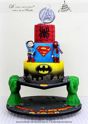 Super Heroes - Cake by D Cake Creations®