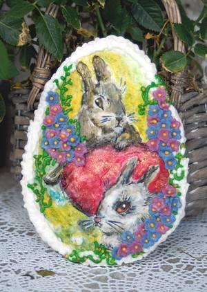 easter rabbit cookie - Cake by Aurelia'sTartArt
