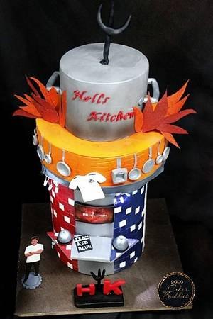 Caker buddies collaboration: Sitcom theme: Hell's Kitchen - Cake by anushree