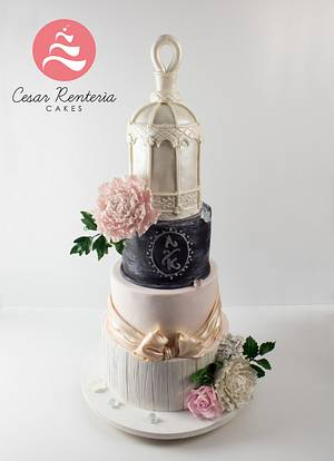 VINTAGE CAKE WEDDING - Cake by Cesar Renteria Cakes