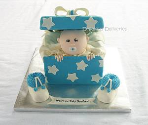 Peeking Baby Cake - Cake by DeliciousDeliveries