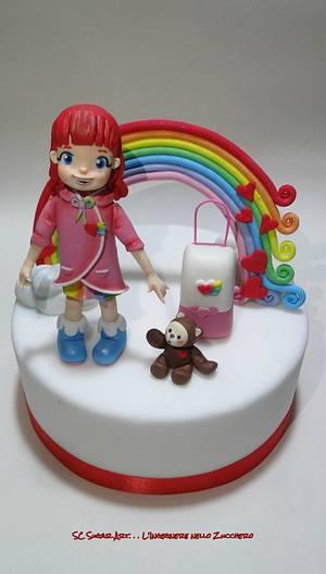 Rainbow Ruby cake topper - Cake by Sc Sugar Art L'ingegnere nello Zucchero