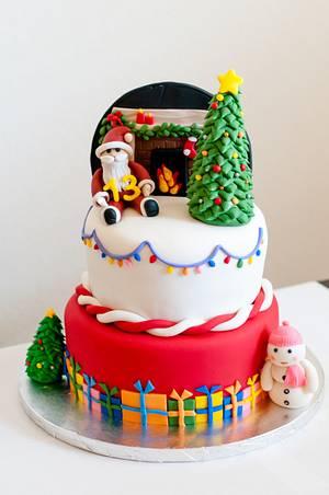 A Christmas themed birthday cake - Cake by Rakesh Menon