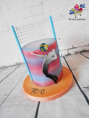 Volleyball - Cake by Petra Krátká (Petu Cakes)