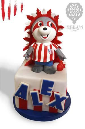 Indi, Club Atletico de Madrid mascot - Cake by Isbilya Cakes