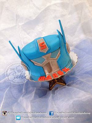 Optimus Prime - Cake by TheCake by Mildred