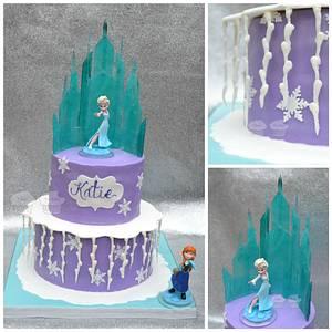 Elsa's Castle - Cake by Susan