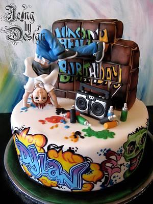 Graffiti cake - Cake by Jennifer