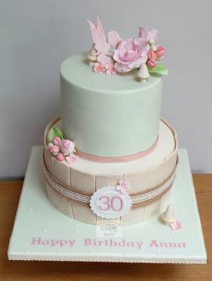 """""""Fairy and Flowers"""" 30th Birthday cake - Cake by The Old Manor House Bakery - Lisa Kirk"""