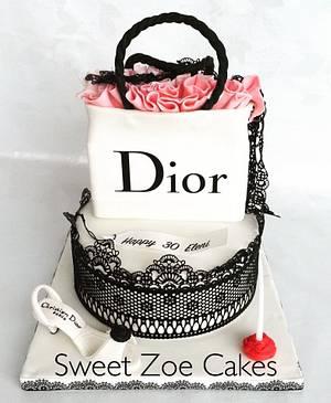 Shopping Bag Dior Cake - Cake by Dimitra Mylona - Sweet Zoe Cakes