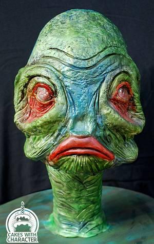 Alien Telus - Cake by Jean A. Schapowal