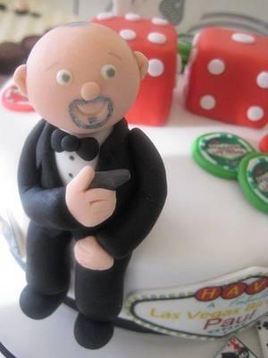 James Bond/ Casino themed birthday cake - Cake by Sugar Sweet Cakes