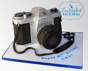 Retro Pentax Camera Cake - Cake by Enchanted Icing
