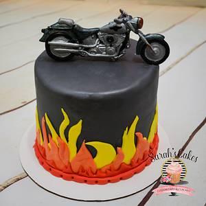Motorcycle Birthday Cake - Cake by Sarah's Cakes