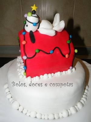Christmas Snoopy - Cake by bolosdocesecompotas