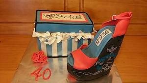 40th Birthday cake - Cake by Alli
