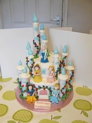 Disney Princess Cake, frozen, elsa, belle, snow white, sleeping beauty, Cinderella - Cake by Krazy Kupcakes