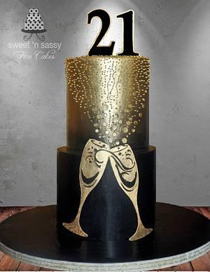 21st Ching Ching - Cake by Sandy Lawrenson - Sweet 'n  Sassy