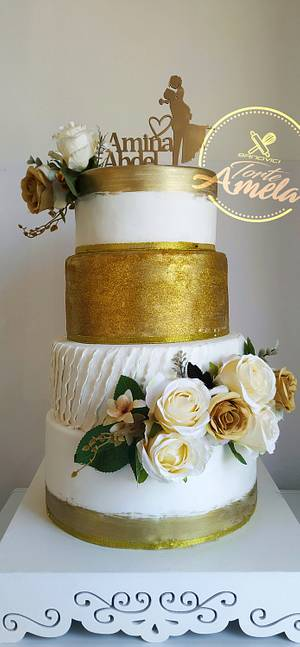 Gold wedding cake - Cake by Torte Amela