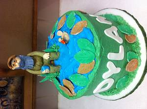 Uncle Si soakin his feet in the pond!  - Cake by sevenheavenlysweets