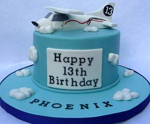Airplane themed cake: Cessna edible airplane topper - Cake by Cakery Creation Liz Huber