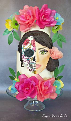 Day of the dead Tribute - Cake by SugarBeeShaes