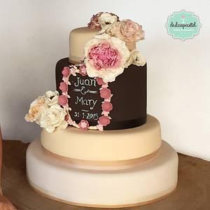 Country Wedding Cake - Cake by Dulcepastel.com