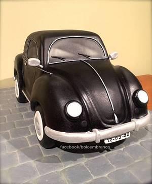 VW Beetle - Cake by Bolo em Branco [by Margarida Duarte]
