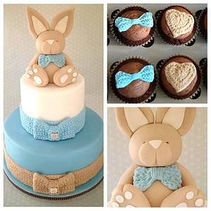 Christening cake  - Cake by Zoe Smith Bluebird-cakes