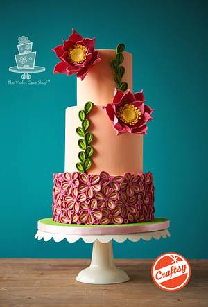 TWO-TONED PETAL Floral Inspired Cake - Cake by Violet - The Violet Cake Shop™