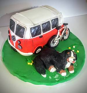 Vw bus cake - Cake by Coffelover