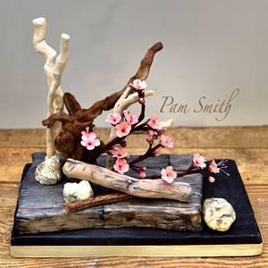 Ikebana&sugar art!  - Cake by Pam Smith's Cakes