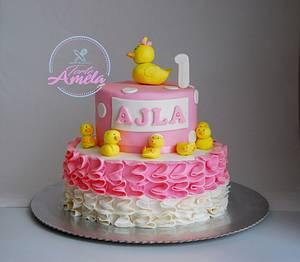 little ducks for 1st birthday - Cake by Torte Amela