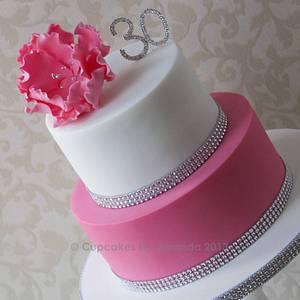 Pink & White Fantasy Flower Cake - Cake by Cupcakes by Amanda