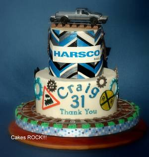 Retirement Celebration for Harsco Rail Corp. - Cake by Cakes ROCK!!!