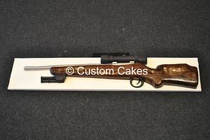 Replica Rifle Cake  - Cake by Custom Cakes