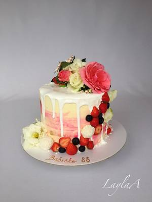 Mini drip cake  - Cake by Layla A