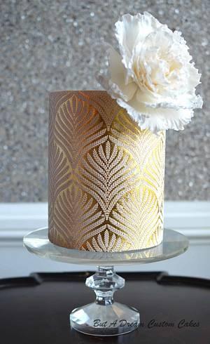 Gold Leaf Cake - Cake by Elisabeth Palatiello