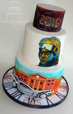 Back to the Future  - Cake by Symone Rostron Cakes & Curiosities
