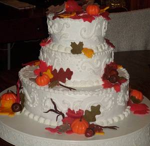 Fall Wedding Cake - Cake by Angie Mellen